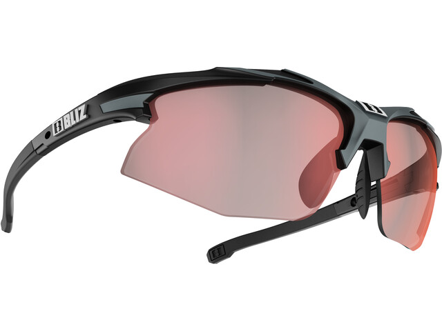 Bliz Hybrid M18 Lunettes Ultra Lens Science, matt black/photochromic brown w red multi